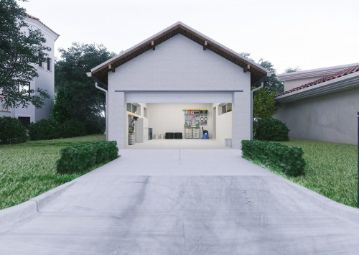 a-beautiful-garage-with-concrete-driveway at sunshine cost pavers